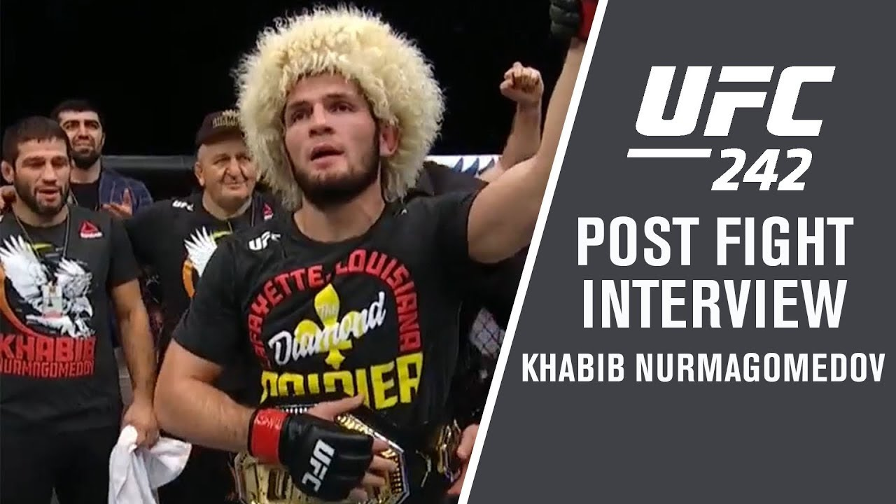 "UFC 242: Khabib Nurmagomedov - ""Next for Me is Coca-Cola with Steak"""