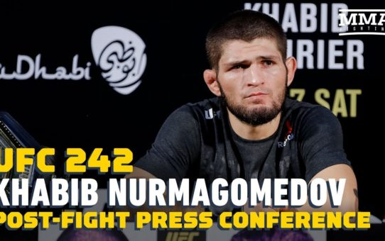 UFC 242: Khabib Nurmagomedov Post-Fight Press Conference – MMA Fighting