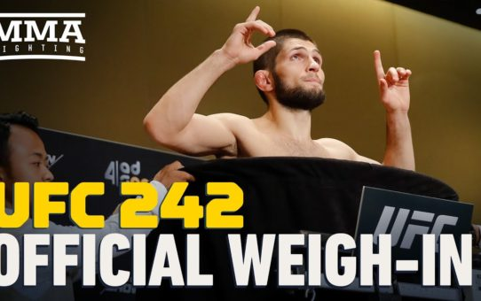 UFC 242 Official Weigh-In Highlights – MMA Fighting