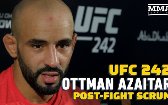UFC 242: Ottman Azaitar Says He power From Crowd Before Brutal KO Of Teemu Packalen – MMA Fighting