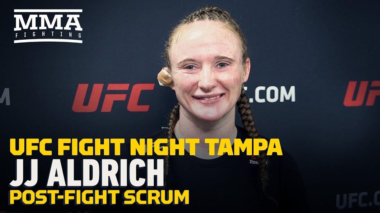 UFC Tampa: J.J. Aldrich Breaks Down Win Over Lauren Mueller At UFC Tampa - MMA Fighting