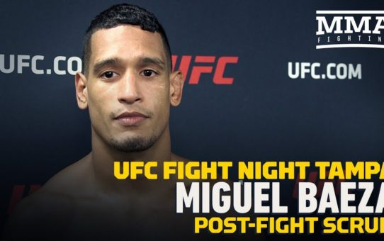 UFC Tampa: Miguel Baeza Breaks Down Oblique Kick Finish Over Hector Aldana – MMA Fighting