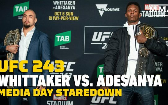 UFC 243: Robert Whittaker vs. Israel Adesanya Media Day Staredown – MMA Fighting