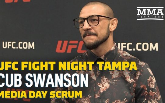UFC Tampa: Cub Swanson Talks About Scrapped Plan To Box Paulie Malignaggi