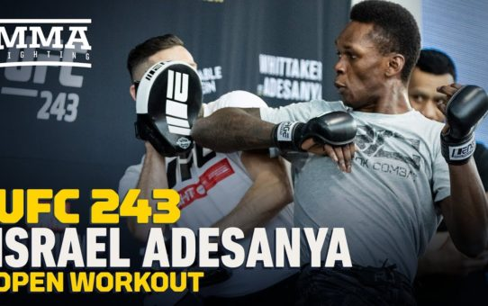 Israel Adesanya UFC 243 Open Workout (Complete) – MMA Fighting