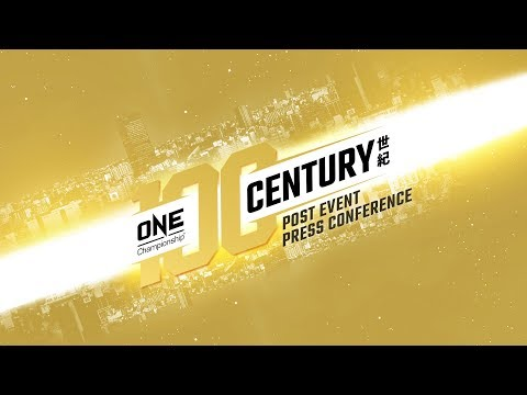 ONE Championship: CENTURY PART II Post-Event Press Conference