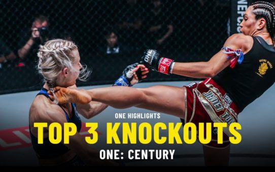 Top 3 Knockouts From ONE: CENTURY | ONE Highlights