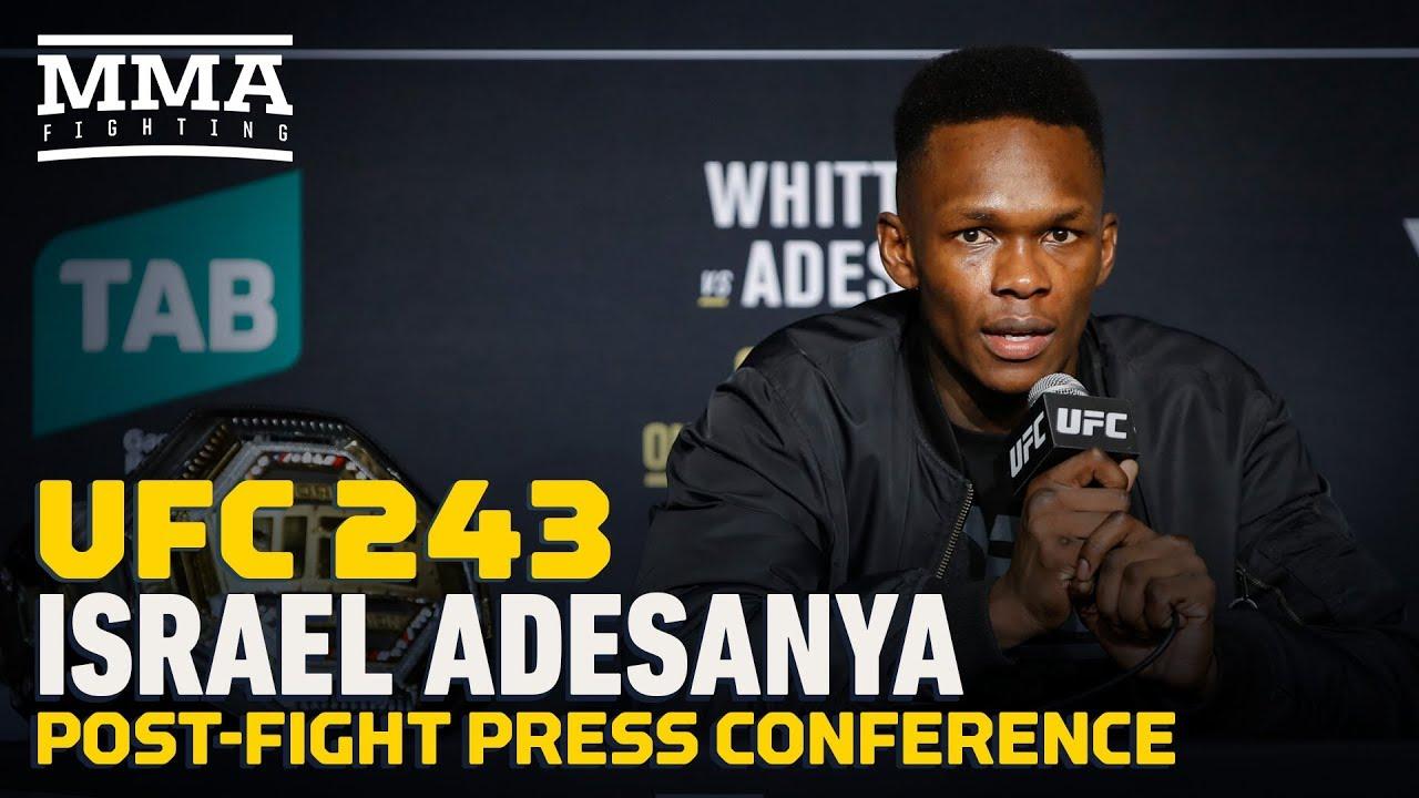 UFC 243: Israel Adesanya Post-Fight Press Conference - MMA Fighting