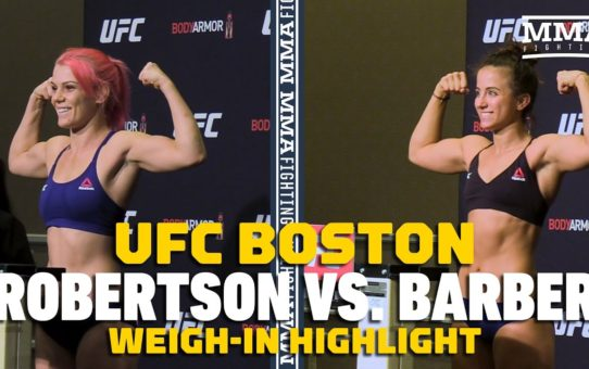 UFC on ESPN 6: Gillian Robertson, Maycee Barber Make Weight – MMA Fighting