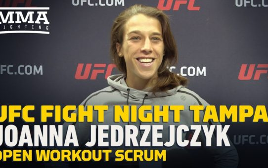 UFC Tampa: Joanna Jedrzejczyk Open Workout Scrum – MMA Fighting