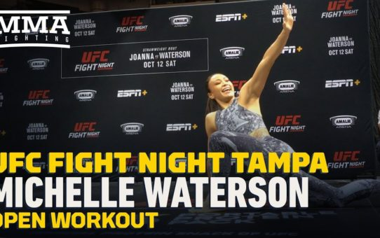UFC Tampa: Michelle Waterson Open Workout Highlights – MMA Fighting