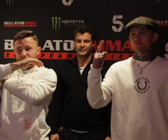 Bellator Dublin: James Gallagher vs. Cal Ellenor Staredown – MMA Fighting