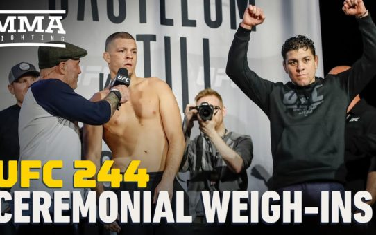 UFC 244 Ceremonial Weigh-In Highlights – MMA Fighting