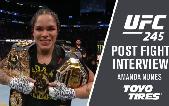 "UFC 245: Amanda Nunes – ""We Always have A Second Plan"""