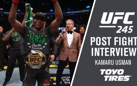 "UFC 245: Kamaru Usman – ""I Wanted To Knock Him Out"""