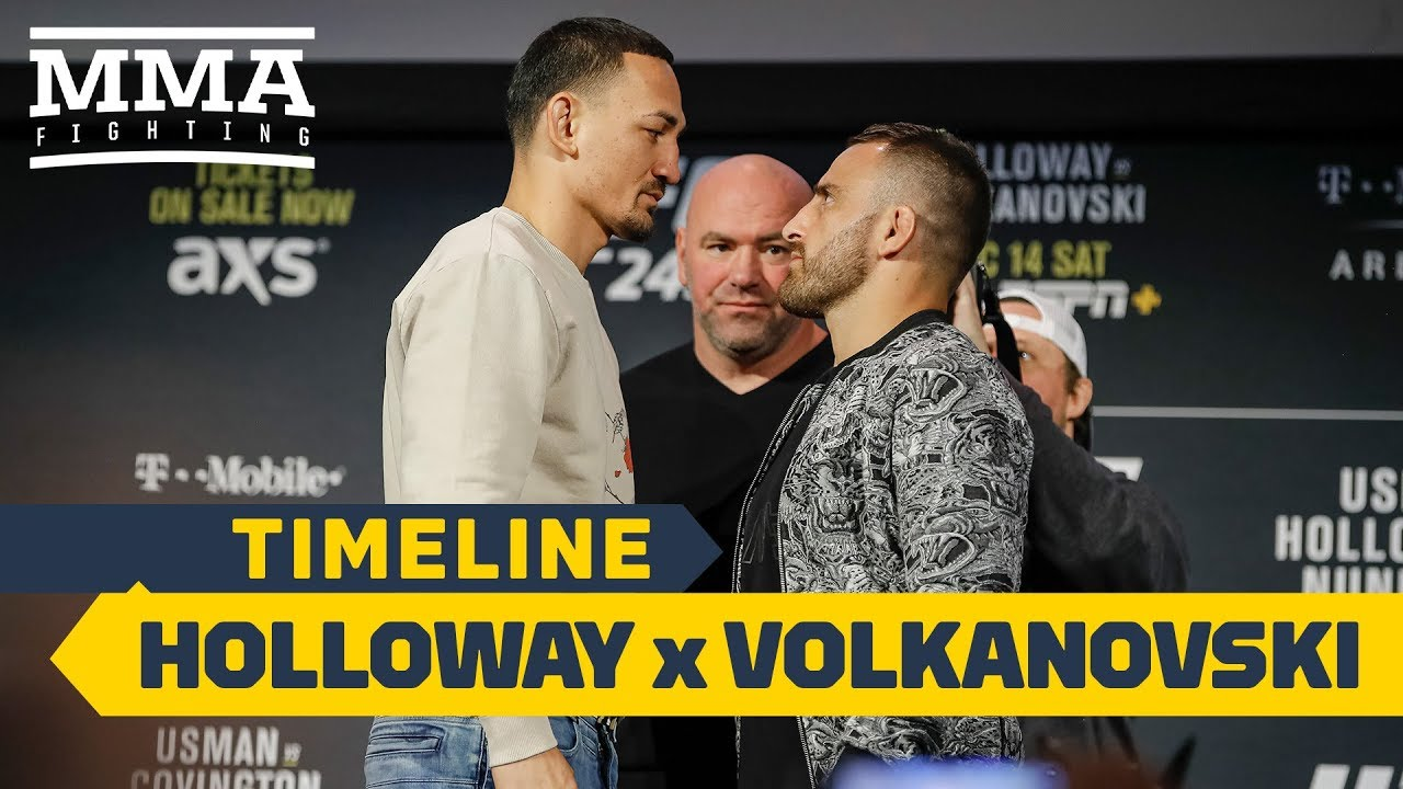 UFC 245 Timeline: Max Holloway vs. Alexander Volkanovski - MMA Fighting