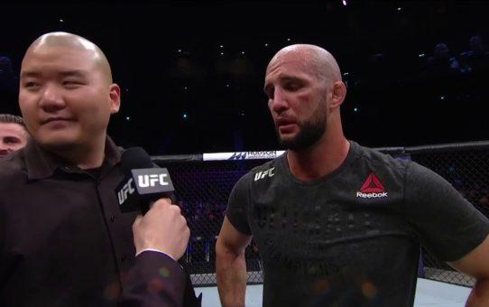 UFC Busan: Volkan Oezdemir Octagon Interview
