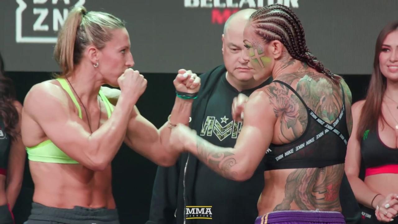 Bellator 238: Julia Budd vs. Cris Cyborg Weigh-In Staredown - MMA Fighting