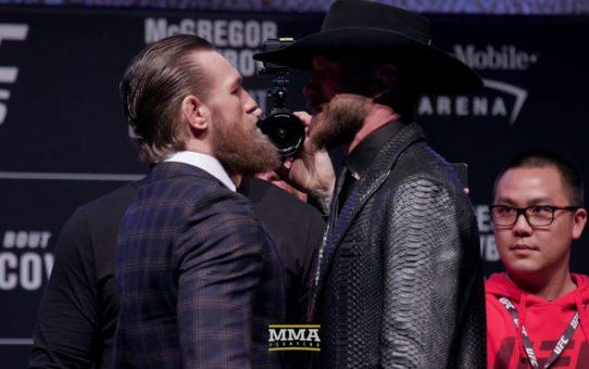 UFC 246: Conor McGregor vs. Donald Cerrone Press Conference Staredown  – MMA Fighting
