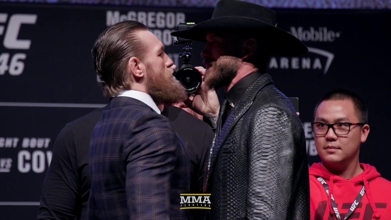 UFC 246: Conor McGregor vs. Donald Cerrone Press Conference Staredown  - MMA Fighting