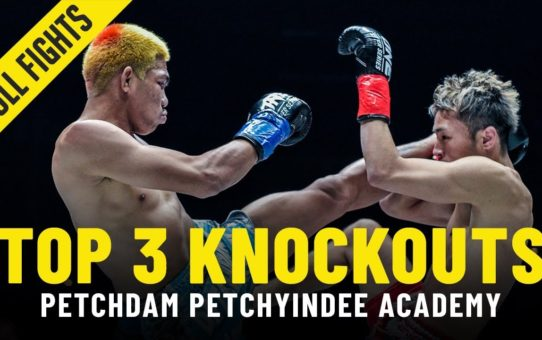 Top 3 Knockouts | Petchdam Petchyindee Academy | ONE Full Fights