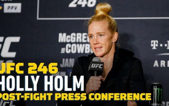 UFC 246: Holly Holm Post-Fight Scrum – MMA Fighting
