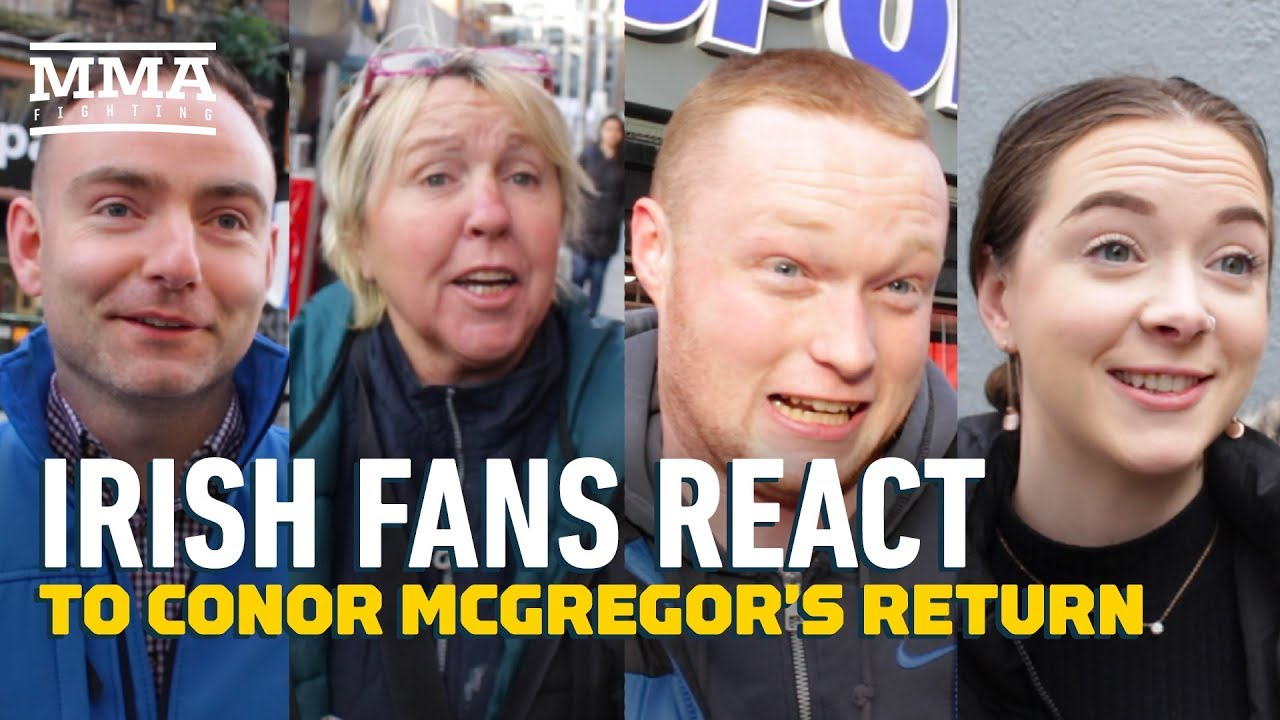 UFC 246: Irish Fans React To Conor McGregor's Return - MMA Fighting