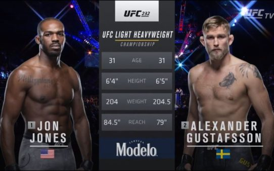 UFC 247 Free Fight: Jon Jones vs Alexander Gustafsson 2