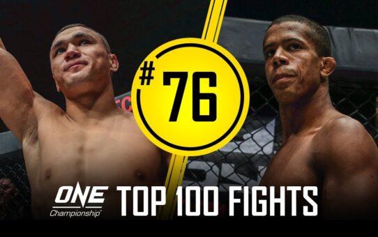 Kairat Akhmetov vs. Adriano Moraes 2   ONE Championship's Top 100 Fights   #76