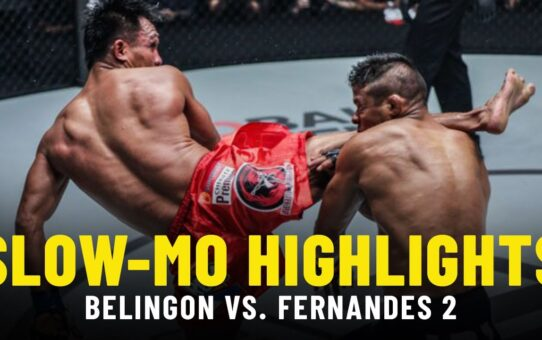 Kevin Belingon vs. Bibiano Fernandes 2 | Slow-Mo Fight Highlights