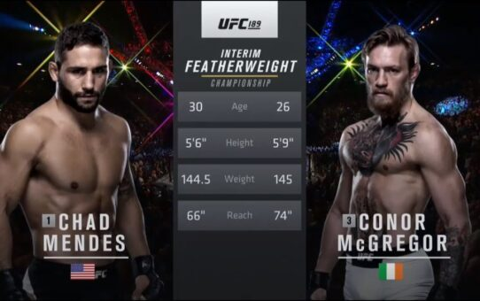 Free Fight: Conor McGregor vs Chad Mendes | UFC 189, 2015