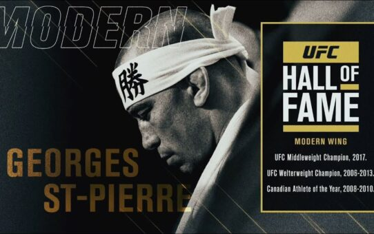 Georges St-Pierre Joins the UFC Hall of Fame