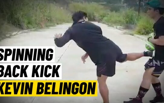 Kevin Belingon: How To Throw A KNOCK OUT Spinning Kick