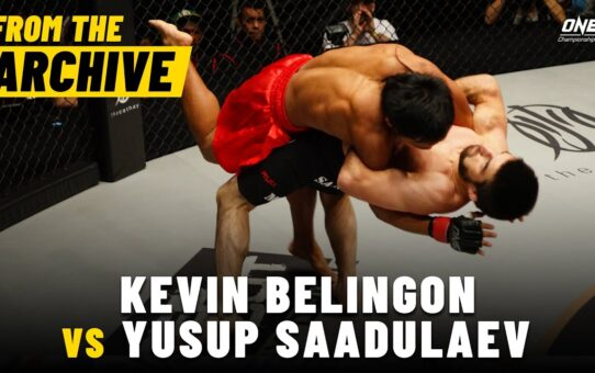 Kevin Belingon vs. Yusup Saadulaev | ONE Championship Full Fight | October 2012