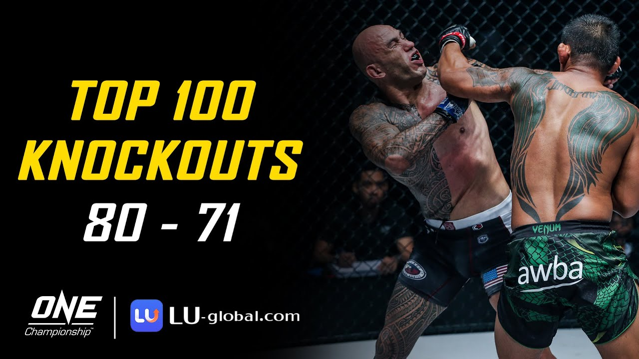 ONE Championship's Top 100 Knockouts | 80 - 71