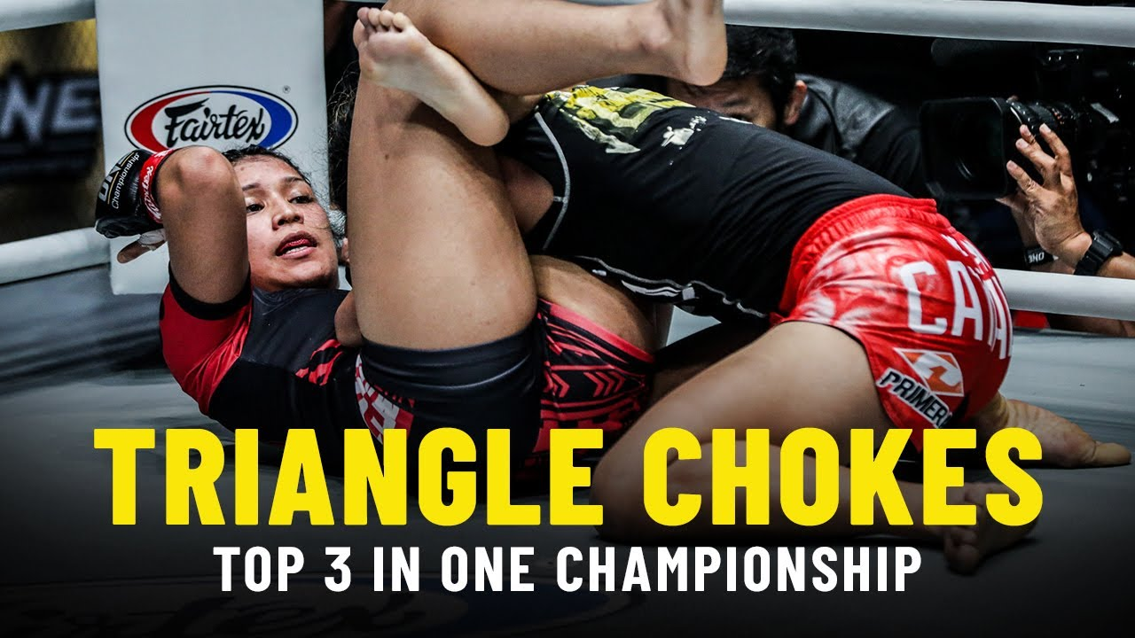 Top 3 Triangle Choke Finishes In ONE Championship