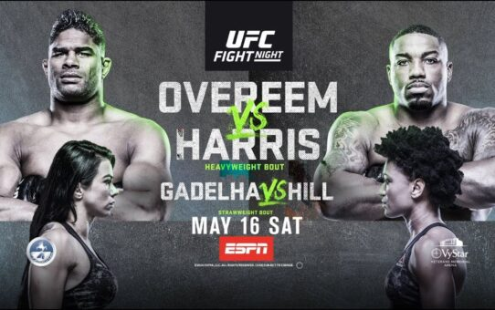 UFC Fight Night: Overeem vs Harris – Live on Saturday Night