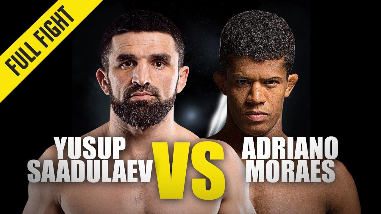 Yusup Saadulaev vs. Adriano Moraes | ONE Championship Full Fight | November 2013
