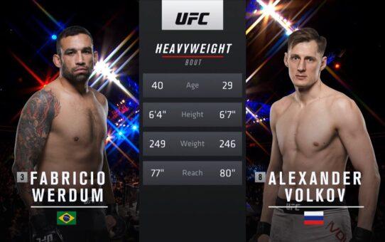 Free Fight: Alexander Volkov vs Fabricio Werdum