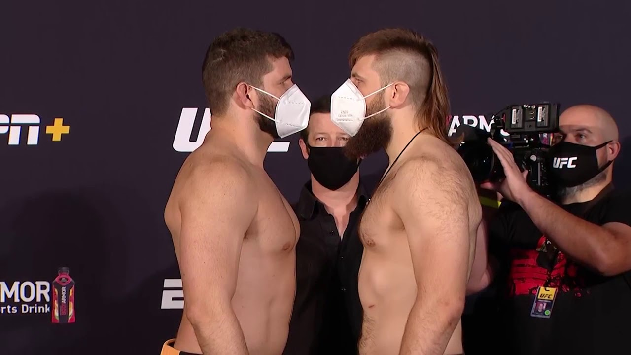 UFC Vegas 4: Weigh-in Faceoffs