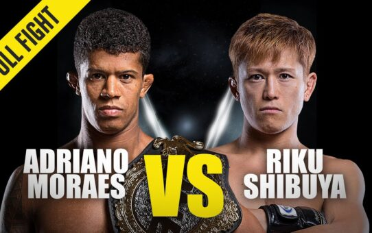 Adriano Moraes vs. Riku Shibuya | ONE Championship Full Fight | March 2015