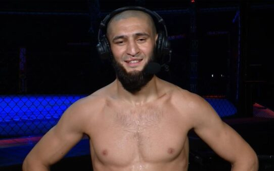 Fight Island 3: Khamzat Chimaev Post-fight Interview | Sets UFC record for fastest back-to-back wins