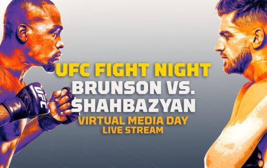 UFC Fight Night Derek Brunson vs Edmen Shahbazyan Virtual Media Day Live Stream – MMA Fighting