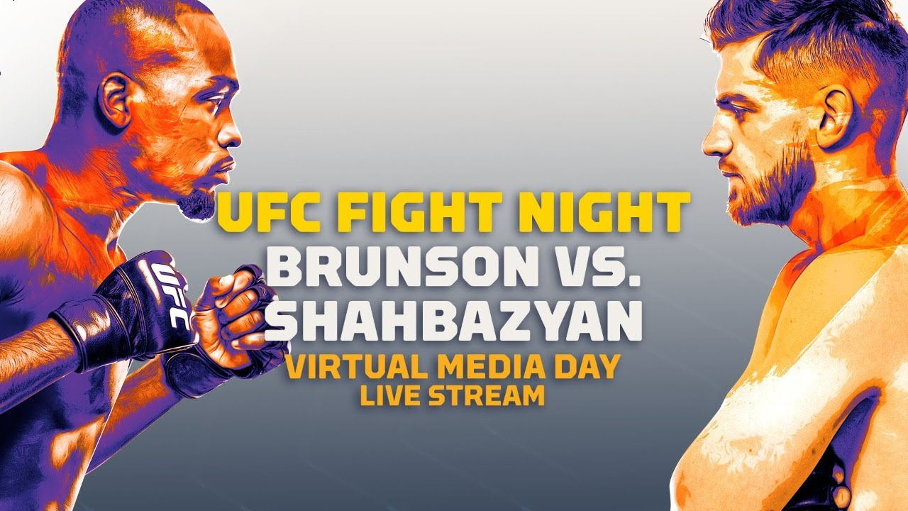 UFC Fight Night Derek Brunson vs Edmen Shahbazyan Virtual Media Day Live Stream - MMA Fighting