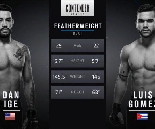 Fight Island Free Fight: Dan Ige vs Luis Gomez