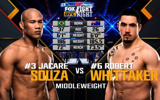 Fight Island Free Fight: Robert Whittaker vs Jacare Souza