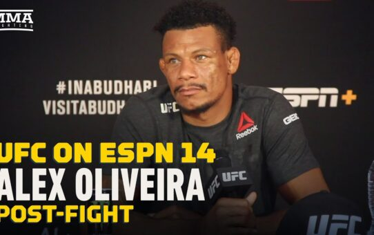 UFC on ESPN 14: Alex Oliveira Claims Peter Sobotta Faked Low Blow For Recovery Time – MMA Fighting