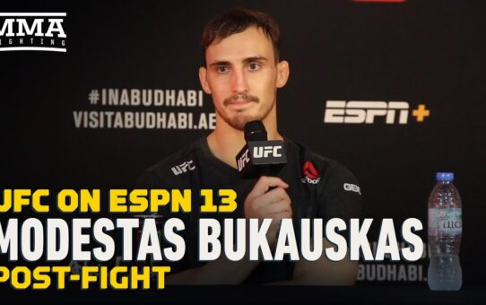 Modestas Bukauskas Admits Fight-Ending Elbows 'Risky Move,' But Knew Where To Land – MMA Fighting