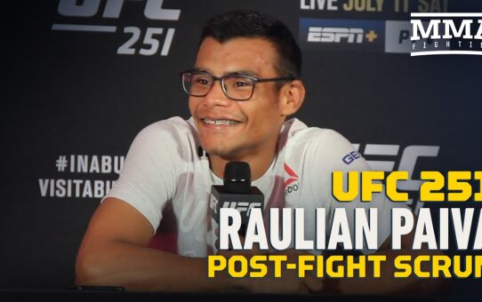 Raulian Paiva Came To Abu Dhabi Alone After Corners Ruled Out for UFC 251 – MMA Fighting