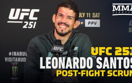 Leonardo Santos on Fouls at UFC 251: 'When It Hurts My Groin, I Win the Fight' – MMA Fighting